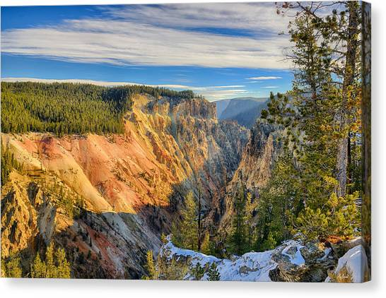 Yellowstone Grand Canyon East View Canvas Print