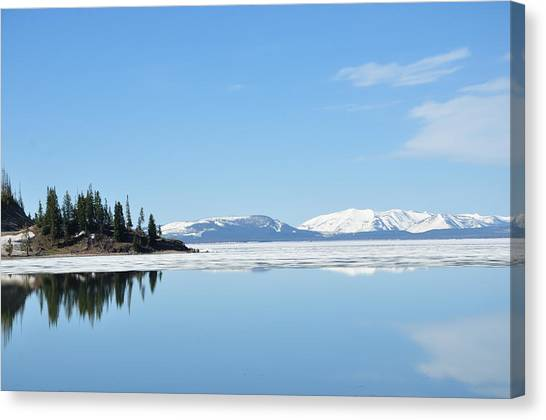 Yellowstone Lake In The Spring Canvas Print