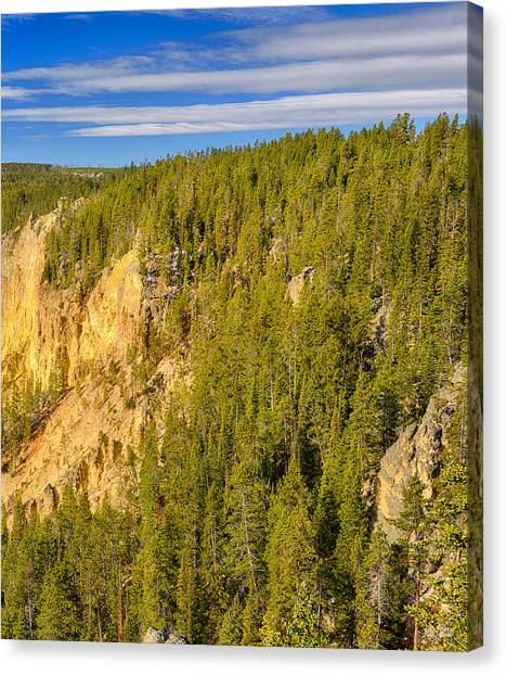 Yellowstone Canvas Print - Yellowstone Lookout Point Right Panel by Greg Norrell