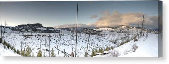 Yellowstone Morning Canvas Print by David Yack