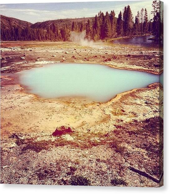 Yellowstone National Park Canvas Print - #yellowstone #national #park #wyoming by Ankur Agarwal