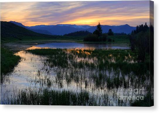 Yellowstone Sunrise Canvas Print