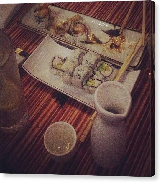 Yen Canvas Print - #yen #sushi by Janea Coleman