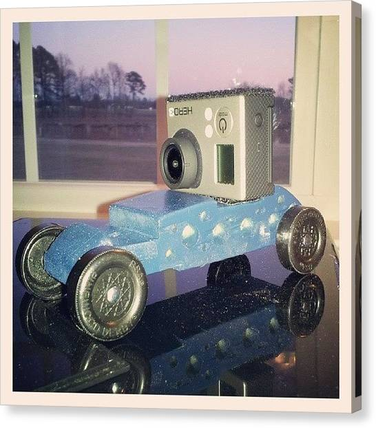 Scouting Canvas Print - Yep, My Son Wanted A Gopro Ready by Chris Morgan