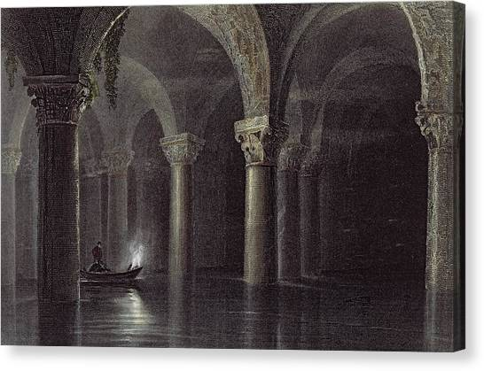 Vault Canvas Print - Yere Batan Serai Istanbul, Engraved by William Henry Bartlett
