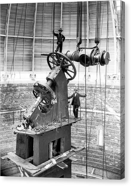 University Of Wisconsin - Madison Canvas Print - Yerkes 40-inch Refractor Telescope by Yerkes Observatory, University Of Chicago, Courtesy Emilio Segre Visual Archives/american Institute Of Physics