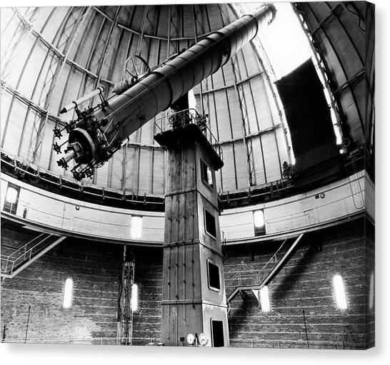 University Of Chicago Canvas Print - Yerkes 40-inch Refractor by Yerkes Observatory, University Of Chicago, Courtesy Emilio Segre Visual Archives/american Institute Of Physics