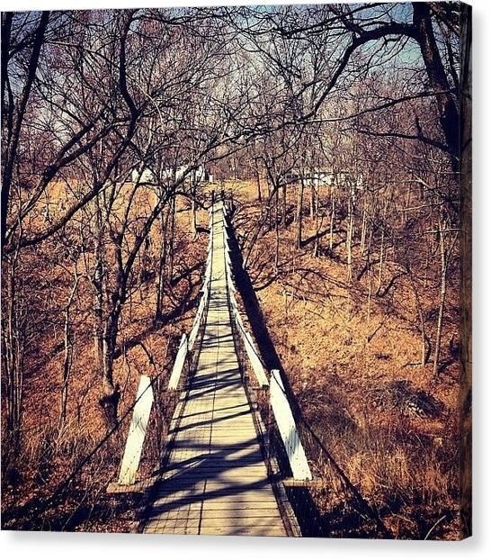 Iowa Canvas Print - Swinging Bridge by Zach Steele