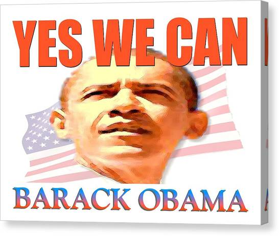 Obamacare Canvas Print - Yes We Can - Barack Obama by Peter Potter