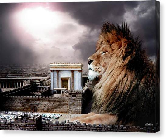 Yeshua In The Outer Court Canvas Print