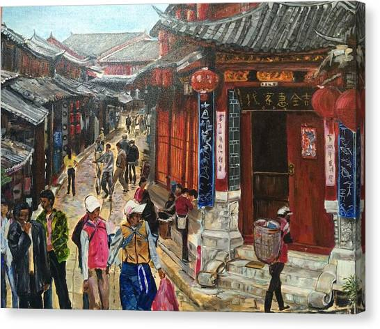 China Town Canvas Print - Yesterday Once More by Belinda Low