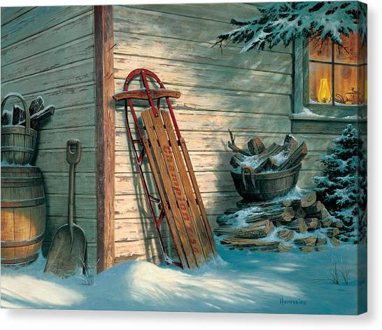 Antique Canvas Print - Yesterday's Champioin by Michael Humphries
