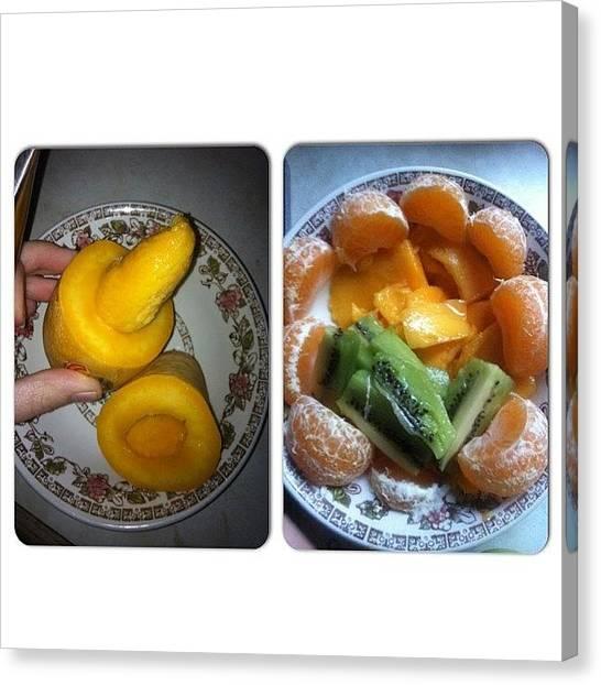 Mangos Canvas Print - Yesterday's Tea! #tea #dinner #fruit by Rachel Ayres