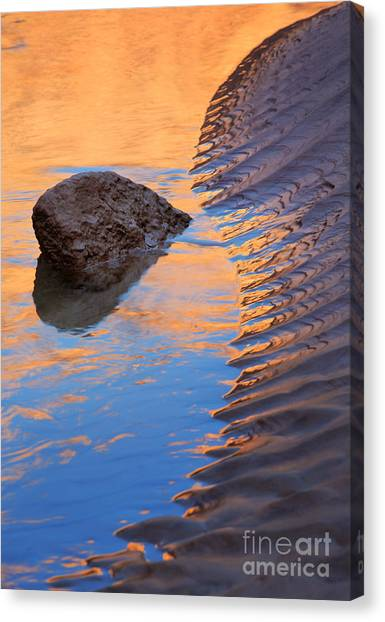 Colorado River Canvas Print - Yin And Yang by Inge Johnsson