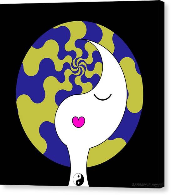 Yin Yang Crown 7 Canvas Print