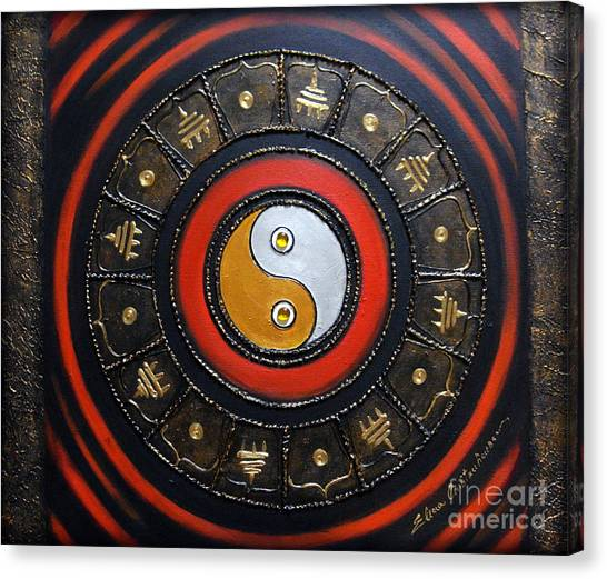 Yin Yang Energy Canvas Print