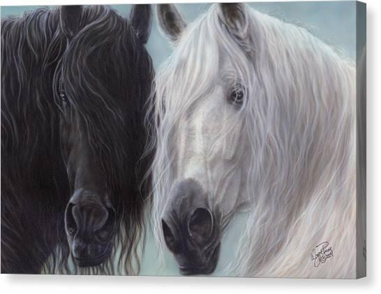 Yin-yang Horses  Canvas Print