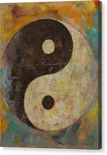 Philosophy Canvas Print - Yin Yang by Michael Creese