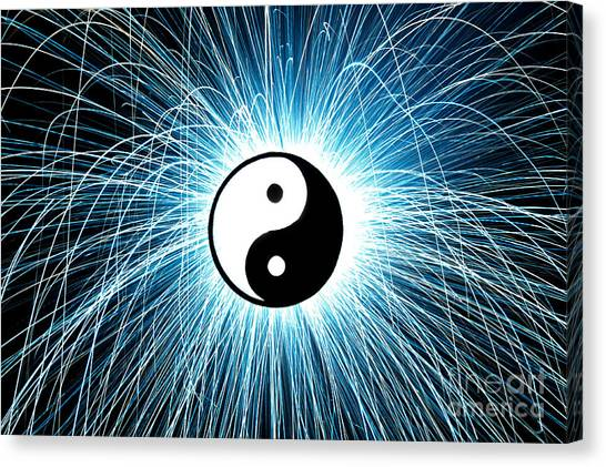 Karma Canvas Print - Yin Yang by Tim Gainey