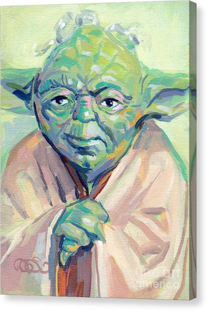 Jedi Canvas Print - Yoda by Kimberly Santini