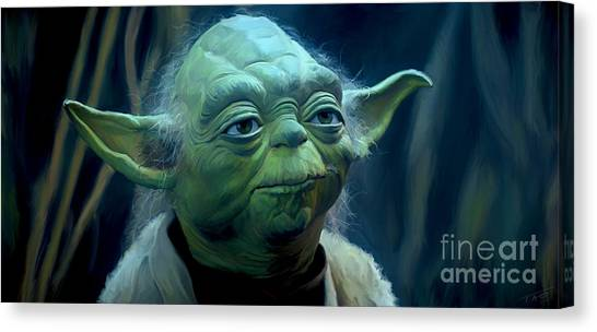 Jedi Canvas Print - Yoda by Paul Tagliamonte