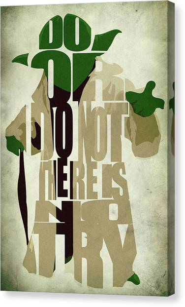 Quote Canvas Print - Yoda - Star Wars by Inspirowl Design
