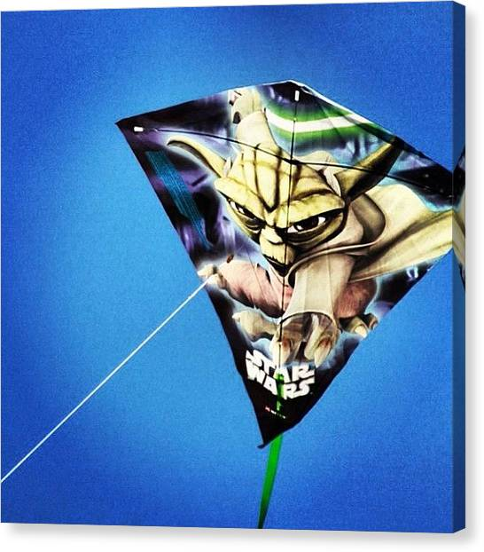 Yoda Canvas Print - #yoda The #kite #instagood by Mark Gonyea