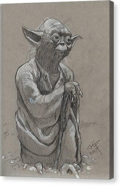Yoda Canvas Print - Yoda by Tom Carlton