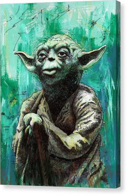 Yoda Canvas Print - Yoda by Tom Deacon