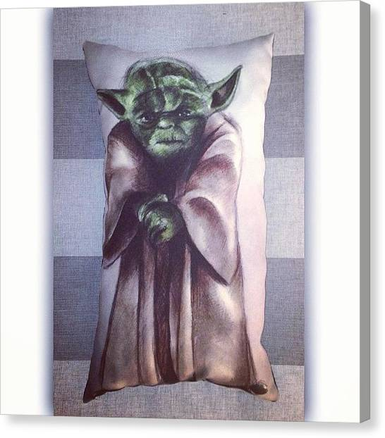 Yoda Canvas Print - Yoda Will Be On Sale At Brisbane by Avril O