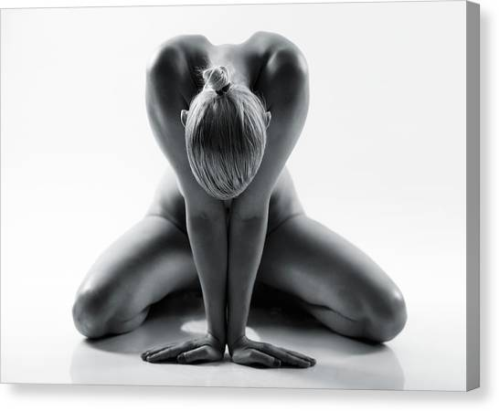 Fine Art Nudes Canvas Print - Yoga by Jan Lykke