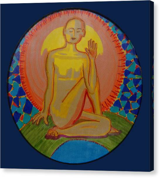 Yoga Seated Twist Canvas Print