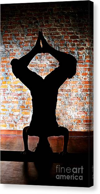 Yoga Silhouette 3 Canvas Print by Shannon Beck-Coatney