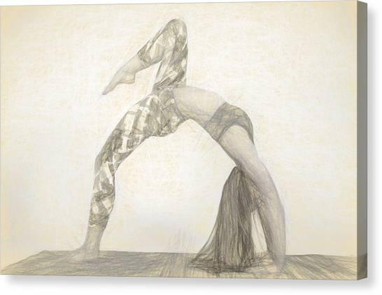 Yogi Canvas Print - Yogi Yoga Meditation Woman by David Haskett II