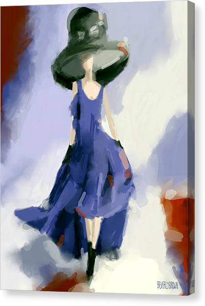 Yohji Yamamoto Fashion Illustration Art Print Canvas Print