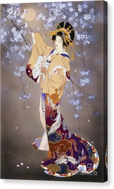 Crane Canvas Print - Yoi by Haruyo Morita