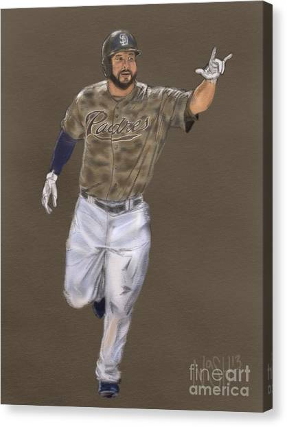 San Diego Padres Canvas Print - Yonder Alonso by Jeremy Nash