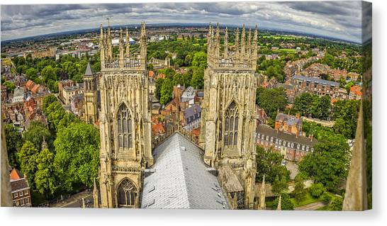 York From York Minster Tower Canvas Print