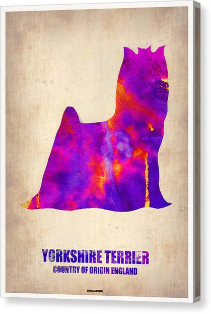 Terrier Canvas Print - Yorkshire Terrier Poster by Naxart Studio