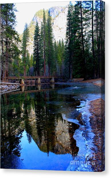 Yosemite Bridge Reflections Canvas Print