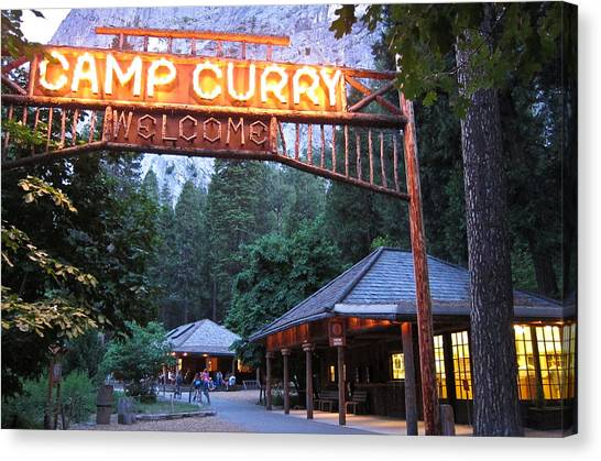 Yosemite Curry Village Canvas Print