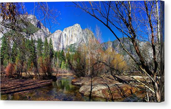 Yosemite Falls Canvas Print - Yosemite Falls Along The Merced River by Scott McGuire