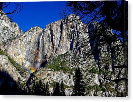 Yosemite Falls Canvas Print - Yosemite Falls Rainbow by Scott McGuire