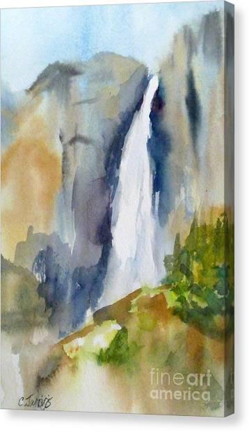 Yosemite Falls Springtime Canvas Print