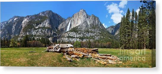 Yosemite Falls Canvas Print - Yosemite Meadow Panorama by Jane Rix