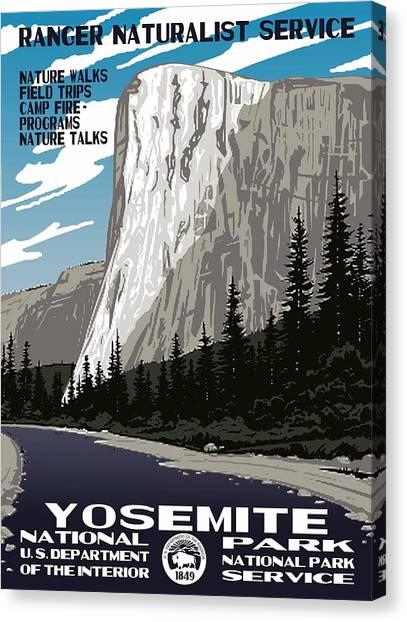 Yosemite National Park Vintage Poster 2 Canvas Print