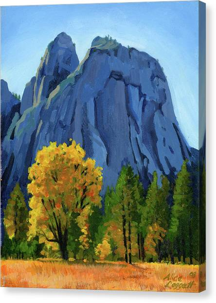 Yosemite Falls Canvas Print - Yosemite Oaks by Alice Leggett