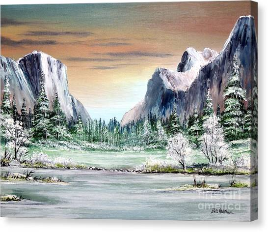 Cathedral Rock Canvas Print - Yosemite Valley Artist Point by Bill Holkham