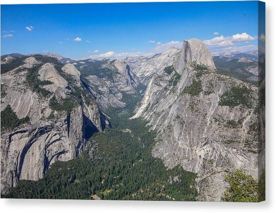 Yosemite Valley From Above Canvas Print