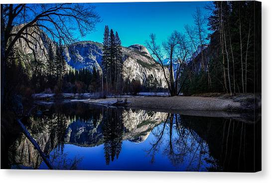 El Capitan Canvas Print - Yosemite Valley Merced River Reflection by Scott McGuire